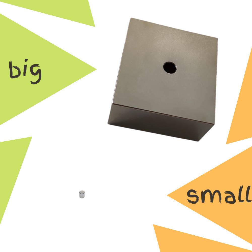 Cel mai mare si cel mai mic magnet de la Supermagneti